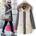Women's Warm Winter Hooded Fur Collar Parka Coat Overcoat Long Jacket Outwear
