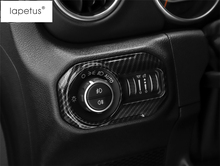 Lapetus Accessories For Jeep Wrangler JL 2018 2019 Head Lights Lamp Switch Button Molding Cover Kit Trim / 4 Colors Choice