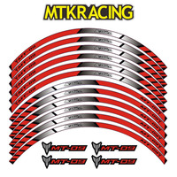 MTKRACING 4 color for YAMAHA MT 09 motorcycle wheel decals Reflective stickers rim stripes MT 09 motorbike mt09