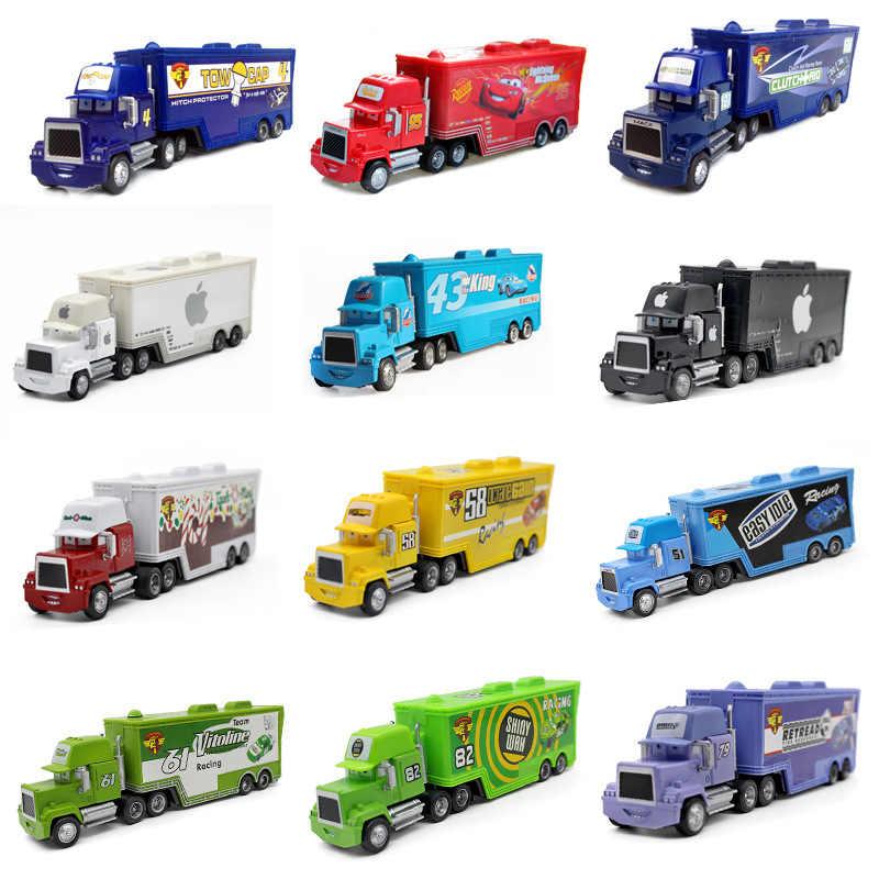 Disney Pixar Cars 2 3 Mainan Lightning McQueen Jackson Badai MACK Paman Truk 1:55 Diecast Model Mobil Mainan Anak Natal hadiah