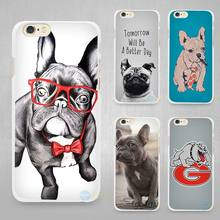 pocket french bulldog Hard White Cell Phone Case Cover for Apple iPhone 4 4s 5 5C SE 5s 6 6s 7 8 Plus X