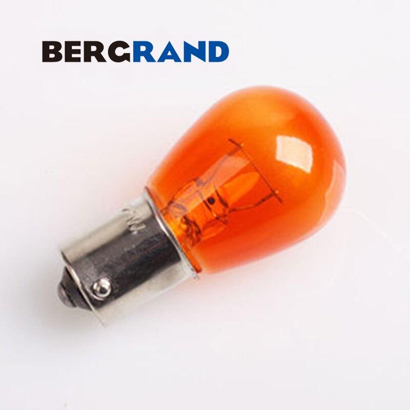 10шт P21W s25 обратные 1156 382 BA15s из темного стекла 12 в 21 Вт BA15s из противоположных штифтов автомобиля сигнала поворота света миниатюрные лампы Индикатор лампы