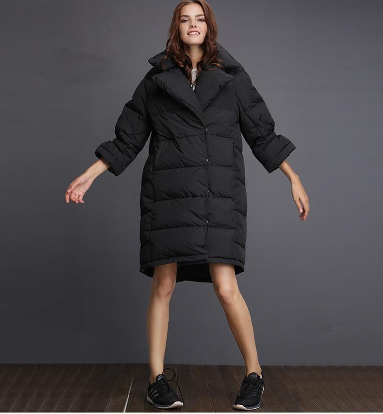 2018 зимние новые женские большой размеры пуховик Свободные Стиль Модные Черный, белый цвет пальто для будущих мам