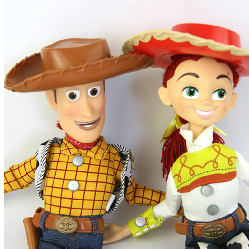 15 inch Pixar Toy Story 3 Talking Woody Jessie Pvc cartoon Action Figure Collectible Model Toy Doll for kids christmas gift hot new 1pcs 18cm toy story 3 woody action figures pvc action figure model toys christmas gift toy