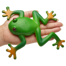 Creative Funny Toy squishy Frog Simulation Soft Stretchable Rubber Model Spoof Vent Toys for Children Kids Adults Jokes