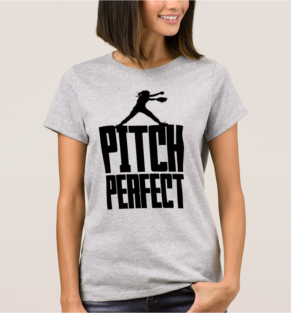 EnjoytheSpirit Fashion Printed Casual T-shirt Pitch Perfect (Softball) T-Shirt Women Clothing Short Sleeve O-Neck Tshirts