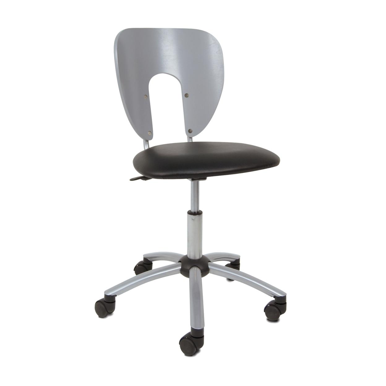 Studio Designs Home Office Futura Chair - Silver studio designs home office maxima ii drafting chair black
