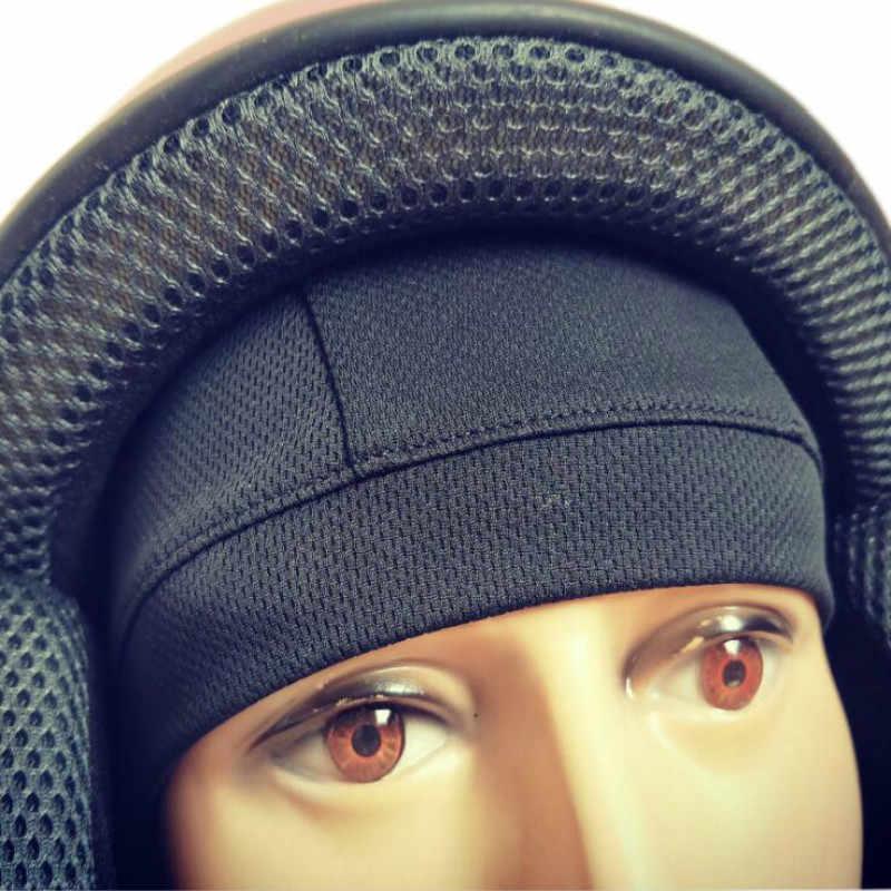 دراجة نارية خوذة قبعة داخلية قبعة دراجة نارية قناع الوجه سريعة الجافة تنفس قبعة سباق قبعة تحت خوذة قبعة صغيرة للخوذة