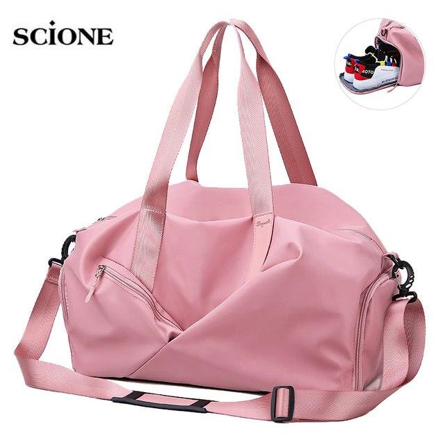 Yoga Mat Fitness Gym Bags Dry Wet Bag Sac De Sport Handbags For Women Men Tas Travel Training Waterproof Pink gymtas pool XA545A