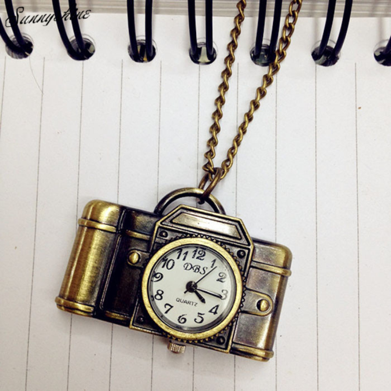 Fashion Unisex Watches Antique Bronze Camera Design Pendant Pocket Watch Necklace Gift wholesaleF3  freeshipping unisex antique bronze camera design pendant pocket watch vintage quartz pocket watch with necklace gift for women