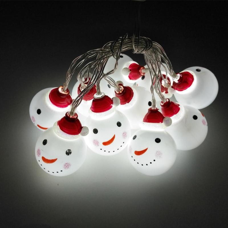 20LED Festivali hediye Kardan Adam Noel Ağacı Dekorasyon kolye - Şenlikli Aydınlatma - Fotoğraf 5