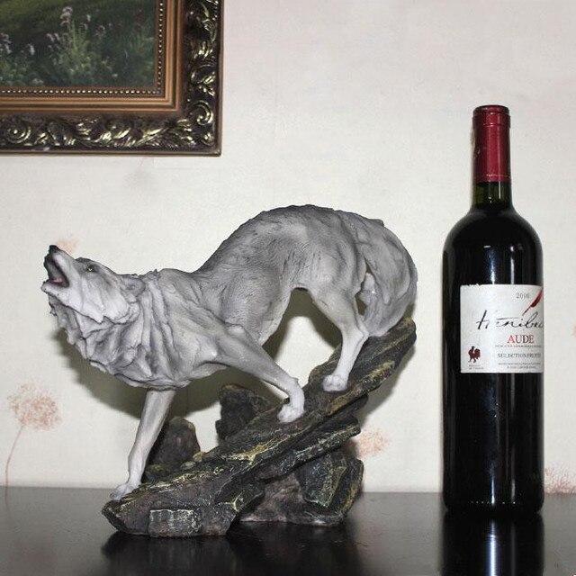 Lobo Estanterías para vino creativo retro Muebles hecho de resina ...