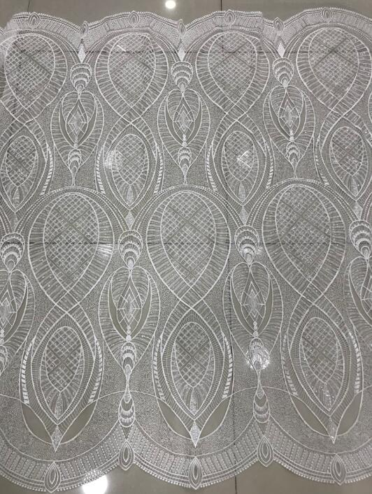 On sale S1870823 beaded African French Lace Fabric Embroidered Nigeria French Net Lace fabric