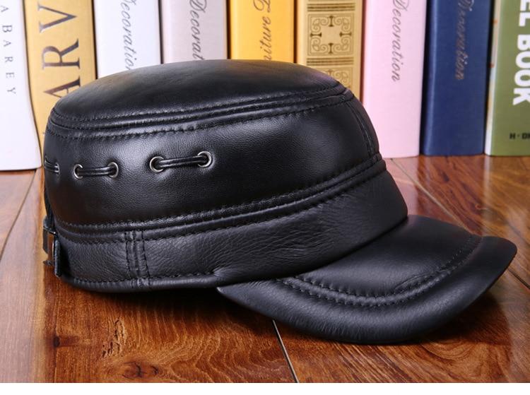 Sheepskin flat cap (7)