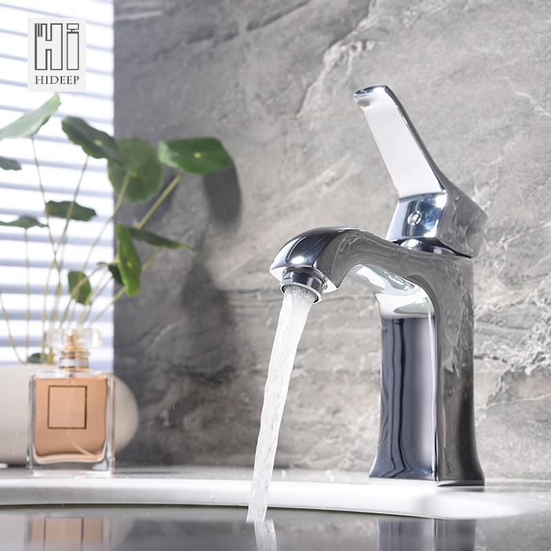 hideep mini stylish elegant bathroom basin faucet brass vessel sink water tap mixer chrome finish