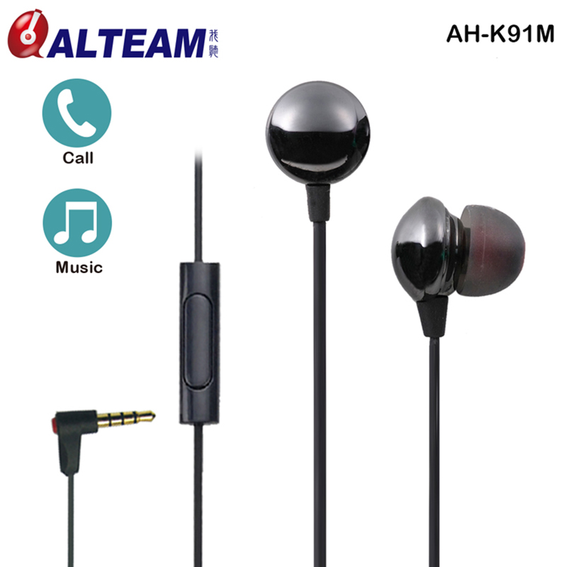 Top Quality Fashion In-Ear Wired 3.5mm Plug Stereo Ceramic Earphone Earbuds Wth Microphone For iPhone Android Mobile Phones 3 5mm plug stereo in ear earphone blue 118cm