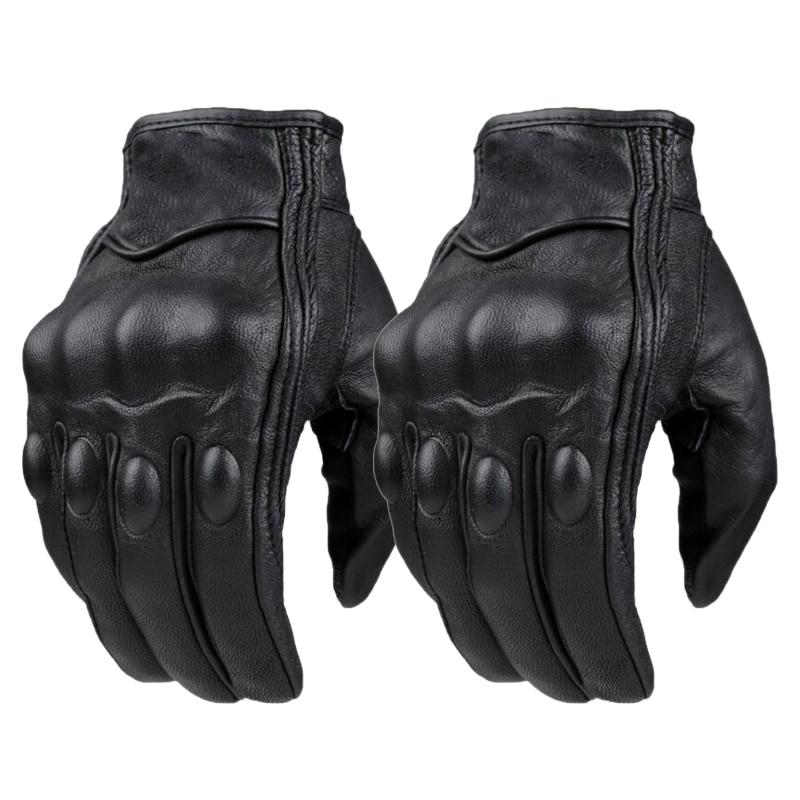Summer Winter Men Retro Motorcycle Gloves Touch Screen Motor Women Motorcycle Leather Gloves Breathable Black Luvas цена 2017