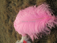 wholesale Quality  100pcs perfect natural pink  ostrich feather 18-20inch/45-50cm Variety of decorative  crafts