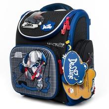 Delune Hockey Pattern School Bags For Boys Girls Cartoon Primary Backpack Children Orthopedic Backpacks Mochila Infantil grade 5