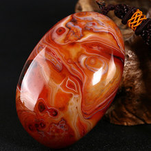 Cabochons Light Agates Stone DIY Pendants Jewelry Carnelian Accessories Necklace Finding Diy