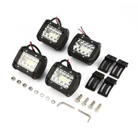 4 Pcs/Set 4 Inch 200W Tri Row LED Light Spot Flood Combo Beam Offroad 4WD LED Bar for Pickup Camper Trailer