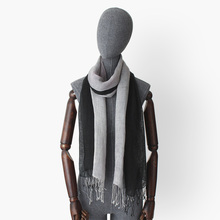 black grey gradient color 100% linen scarves with tassel women fashion light long artsy ombre scarf lady autumn shawl bufanda