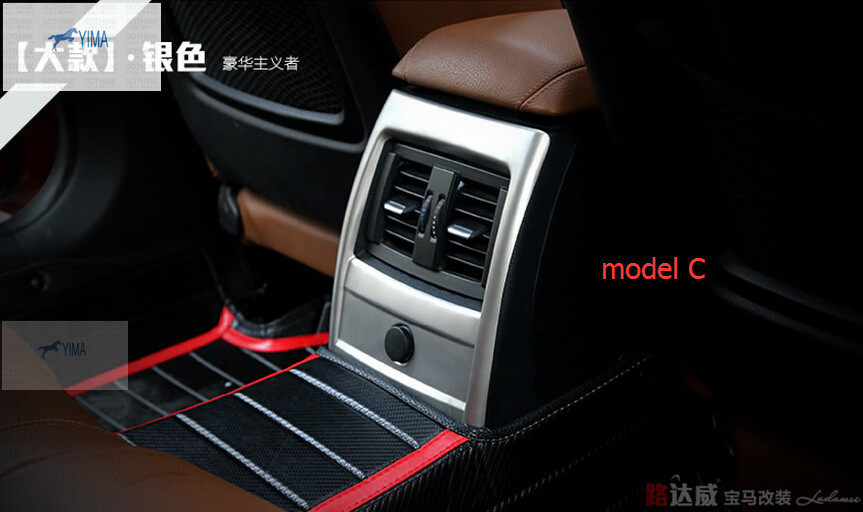 For BMW 4 / 3 series f30 316i 320i Stainless Steel Rear Seat Air Conditioning AC Vent Outlet Armrest Box Frame Cover Trim bmw protective rear seat cover 3 series coupe 2007