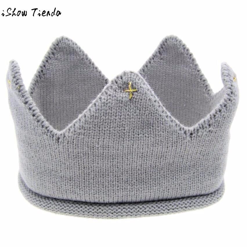Принцесса шляпа Новый Милый ребенок Корона Форма Вязание, Подставки для фотографий Chapeu Infantil