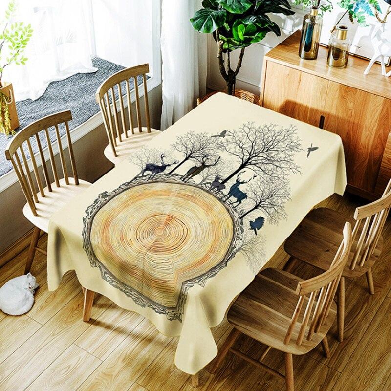 100% Waar Sikaherten Herfst Boom Decoratieve Tafelkleed Waterdicht Thicken Rechthoekige Bruiloft Thuis Eettafel Cover Thee Tafelkleed