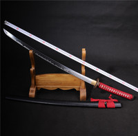 handmade samurai japanese swords katana functional zombie Phoenix battle ready katana manual grinding sword for sale sheaths