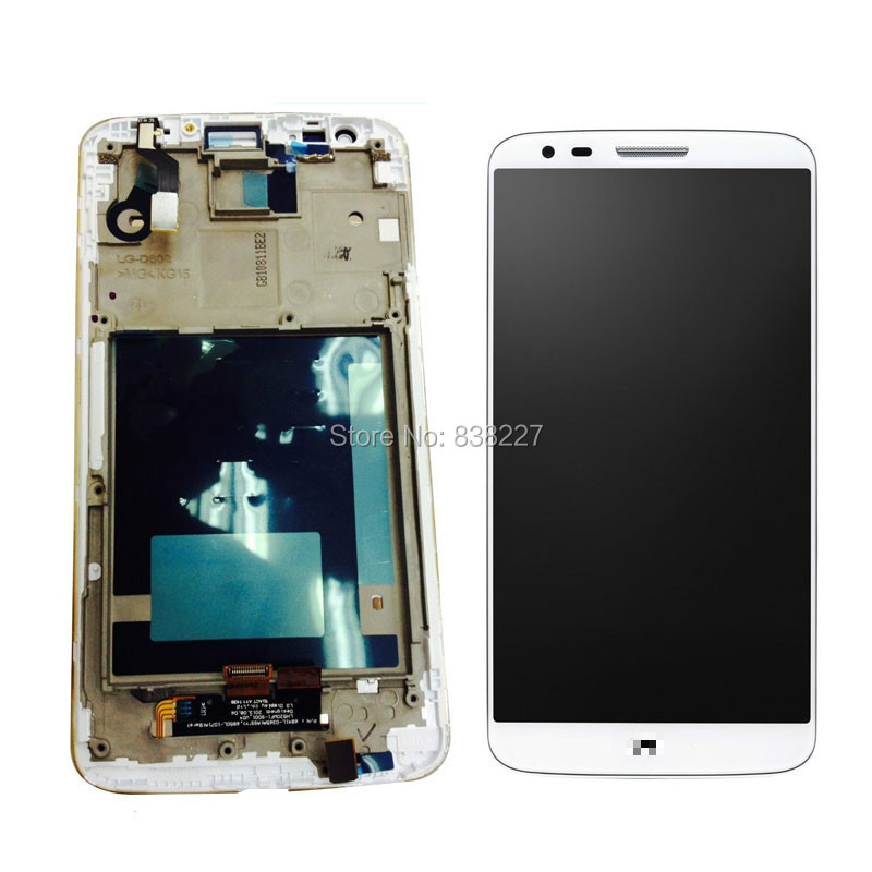 LCD Display Screen For LG G2 D800 D801 D803 F320 F320S F320I Touch Sreen Digitizer Glass panel Assembly With Frame black / white батарейку на lg kg 800