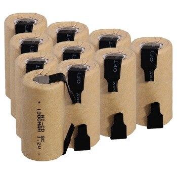 10 sztuk SC 1300mah 1.2v akumulator NICD akumulatory do wkrętarko-wiertarka elektryczna 4.25cm * 2.2cm dla elektronarzędzi