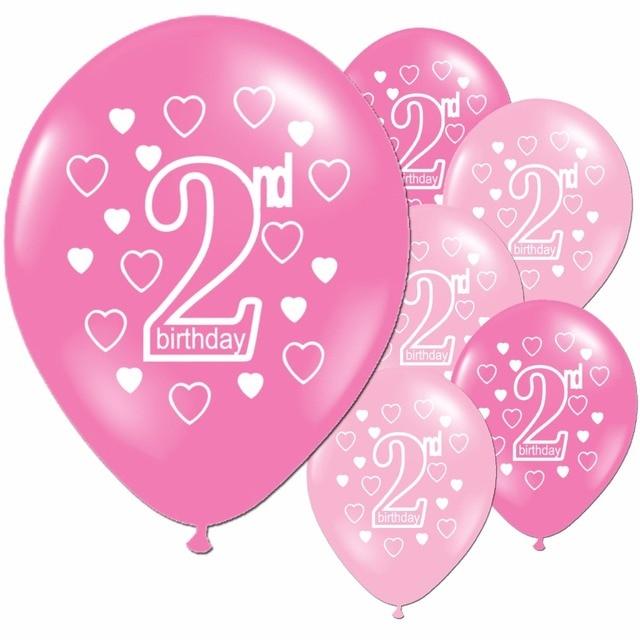 Aliexpress Com Koop 10 Roze Meisje 2nd Verjaardagsfeestje