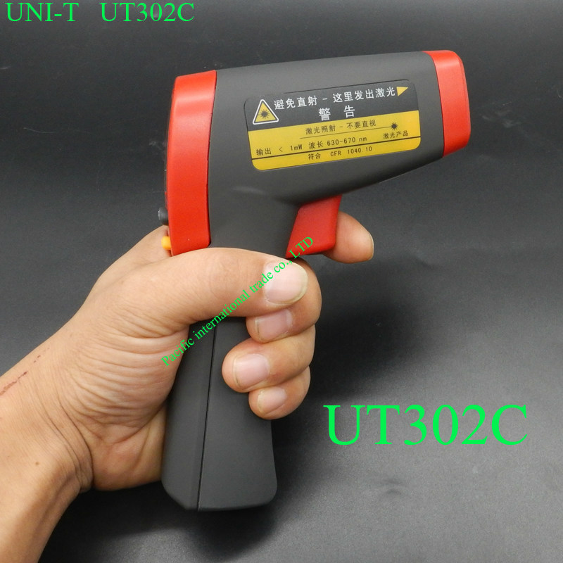 ФОТО UT302C Infrared Thermometer Non-Contact Laser Gun Infrared Digital IR Thermometer LCD with Back Light -32- 650 degree centigrade