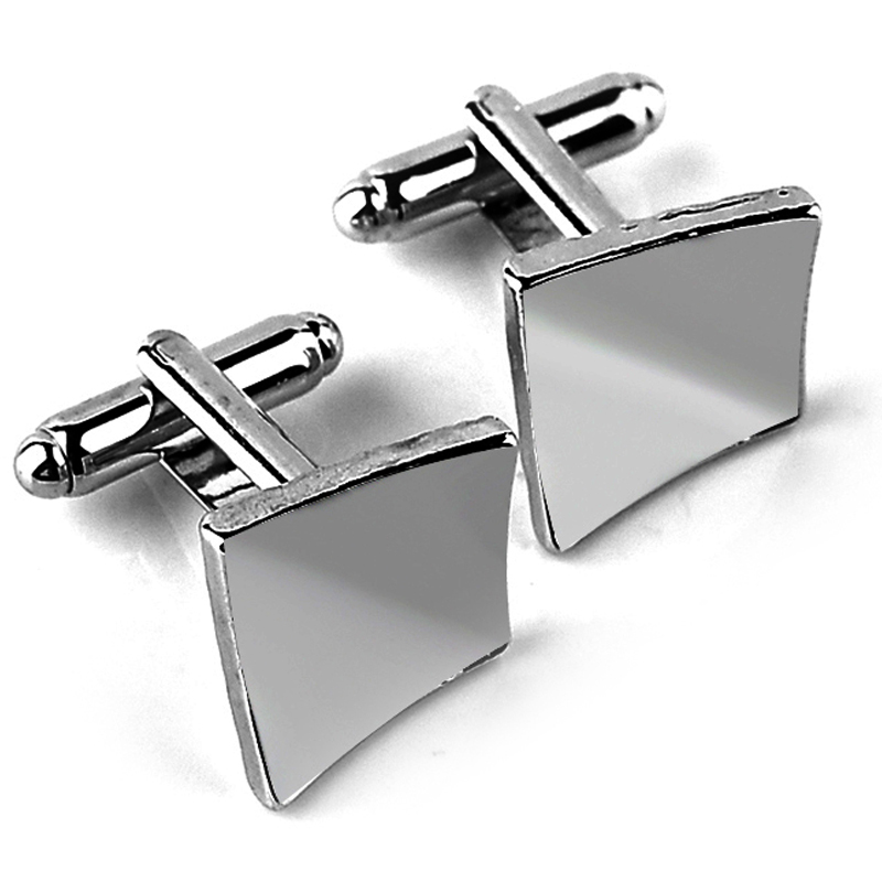1 Par Hombres de plata de la novedad de gama alta elegantes gemelos
