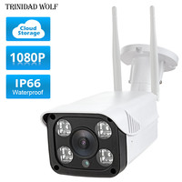 LA LOUP 1080 P En Plein Air étanche de stockage en nuage caméra sans fil détecteur de mouvement Night vision security caméra IP