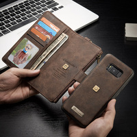 Vintage Card Holder Wallet Pouch Phone Cases For Samsung Galaxy S8/ S8 Plus Leather Case Magnetic Soft Silicone TPU Cover Shell