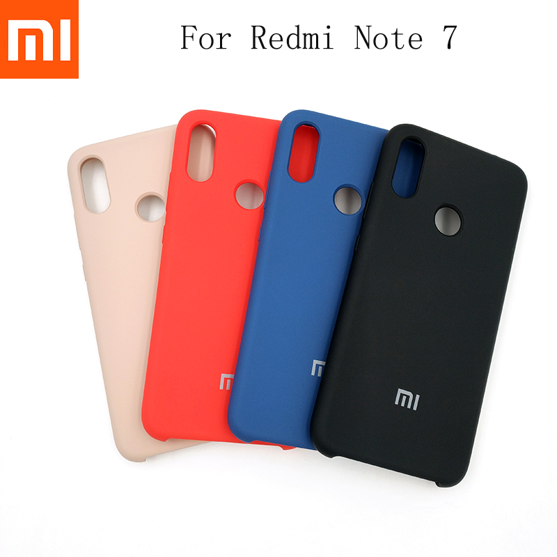 Xiaomi Phone-Cover Liquid Silicone Note-7 Soft-Touch Full-Protective Original for Redmi