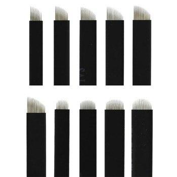1000Pcs Red/Black/White Microblading Needles 0.18mm Nano LAMINA MICRO 12/18U Blade For Tebori Microblading Manual Tattoo Pen