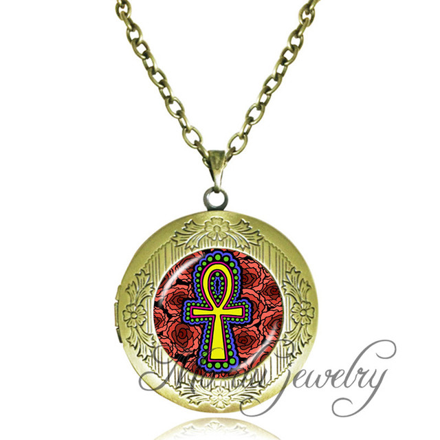 Ankh Pendant Locket Necklace Vintage Eternal Life Symbol Necklace