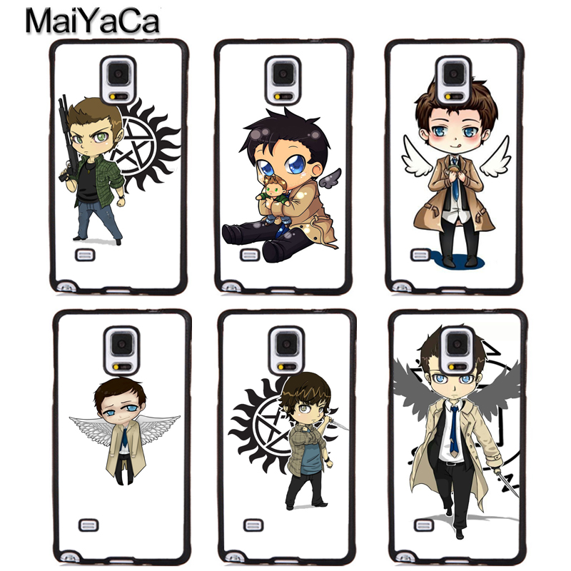 MaiYaCa Cartoon Castiel angel of the lord supernatural Phone Cases For Samsung S6 S7 edge plus S8 S9 plus Note 4 5 8 Back Cover
