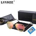 LVVKEE Marca Clássico Óculos Polarizados aviação Homens/Mulheres Coloridos Reflexiva 60mm Lente Óculos Acessórios Óculos de Sol 3026