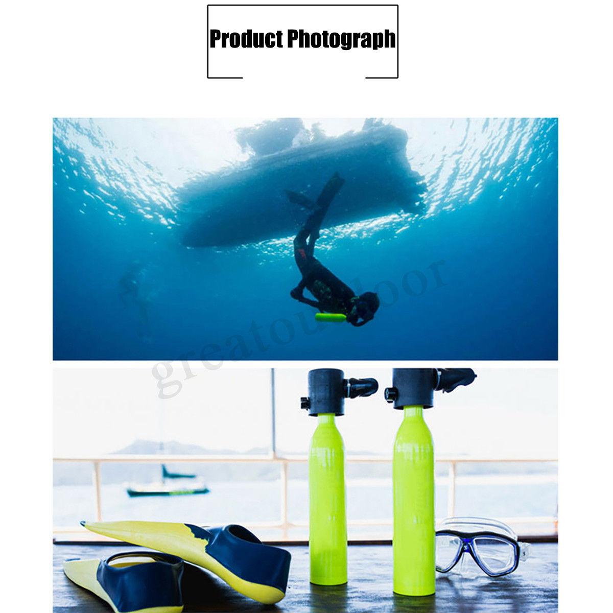 Mini réservoir de plongée 2018 0.5L Mini réservoir de plongée sous-marine jaune Mini équipement de plongée plongeur