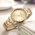 Часы CURREN 2018 женские  роскошные повседневные кварцевые наручные часы из сплава со стальным ремешком  женские часы с кристаллами  подарки  ...