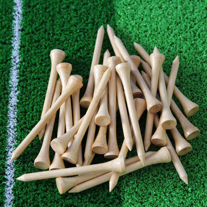 2017 New Hot Sale bamboo golf tee 70mm 50Pcs/pack Golf Tees,Free Shipping