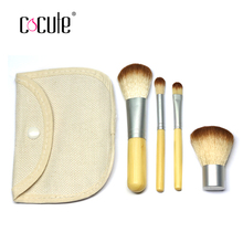 4Pcs/set Professional Foundation Make up Bamboo Brushes Makeup Brush Cosmetic Set Kit Tools Eye Shadow Blush Brush