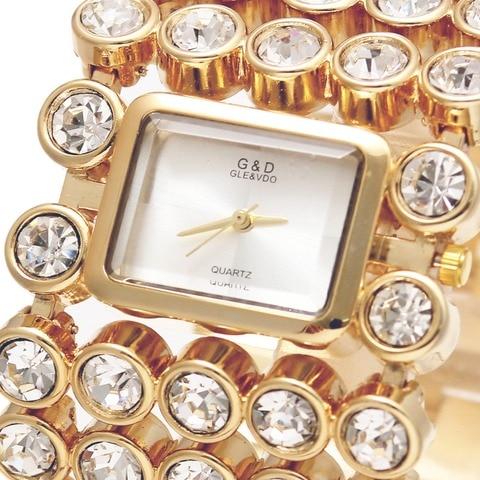 Relógio de Ouro Relógios de Pulso de Quartzo Marca de Luxo Mulheres Pulseira Relógios Top Senhora Relógio Relojes Mujer Feminino Presentes 2020g & d Mod. 129018