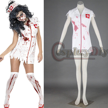Zombie Revientan Enfermera Vestido Carnial Fancy Fiesta de Disfraces de Halloween Cosplay