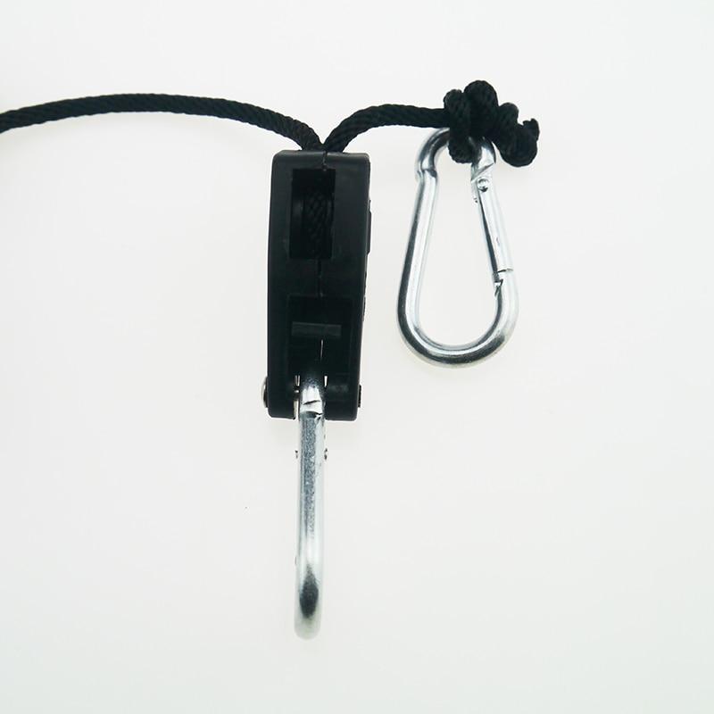 BEYLSION Adjustable 1 Pair 2 PCS 18 Inch Nylon Rope Ratchet Yoyo Hangers Light Hanging Kit for LED Grow Light Grow Tent Room  (2)