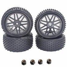 4 unids/pack RC Neumáticos y Llantas 12mm Hexagonal Inserto De Espuma Para 1/10 buggy xstr hsp warhead coche redcat tornado s30 shockwave nitro